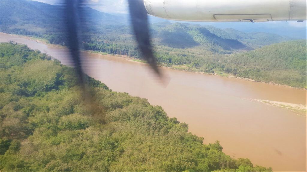 Views of the Mekong river from up in the sky