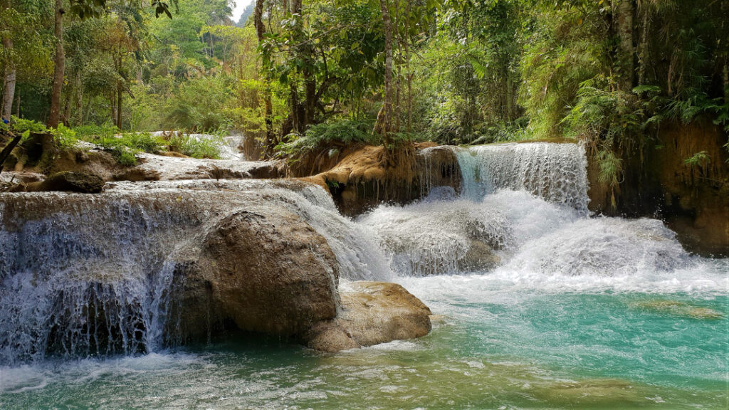 Soak in the beauty of Kuang Si Falls