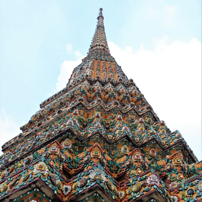 Colourful stupa at Wat Pho, Bangkok