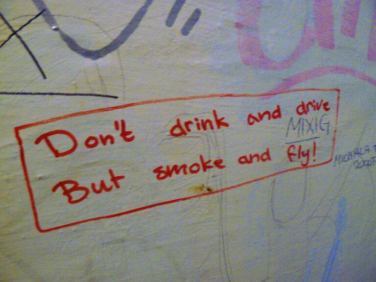 Graffiti scribbled on walls