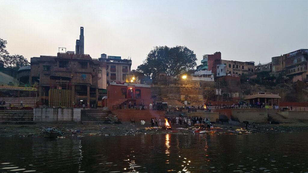 View of Manikarnika Ghat