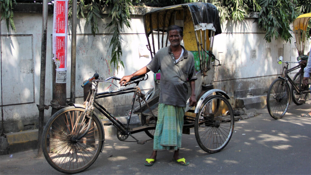 Mode of transport through the gullies of the city