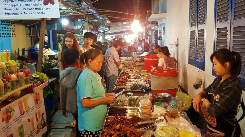 The night food market