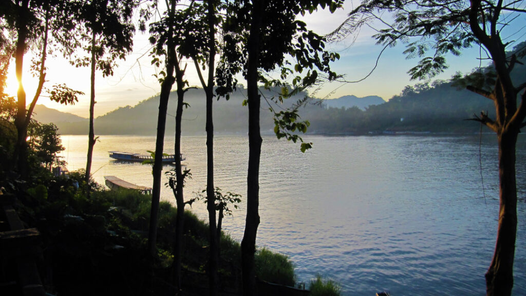 View of the Mekong river in the evening