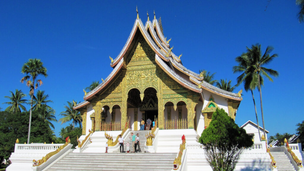 One of many temples in Luang Prabang