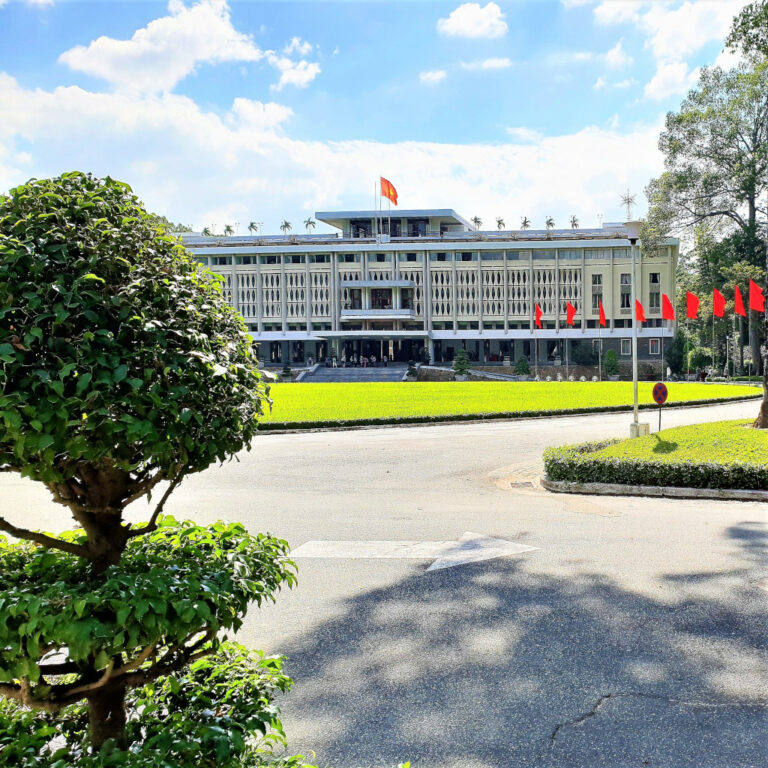 Exterior view Independence Palace Saigon Vietnam