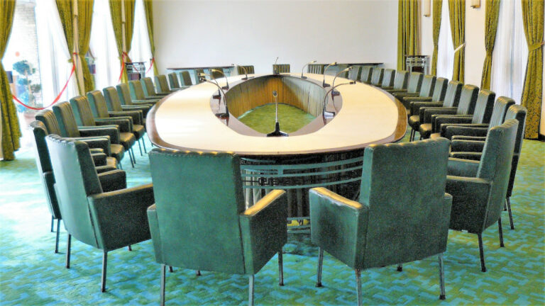 Main conference room at Independence Palace