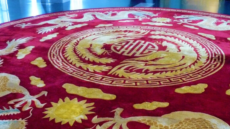 Carpet with official South Vietnamese government insignia