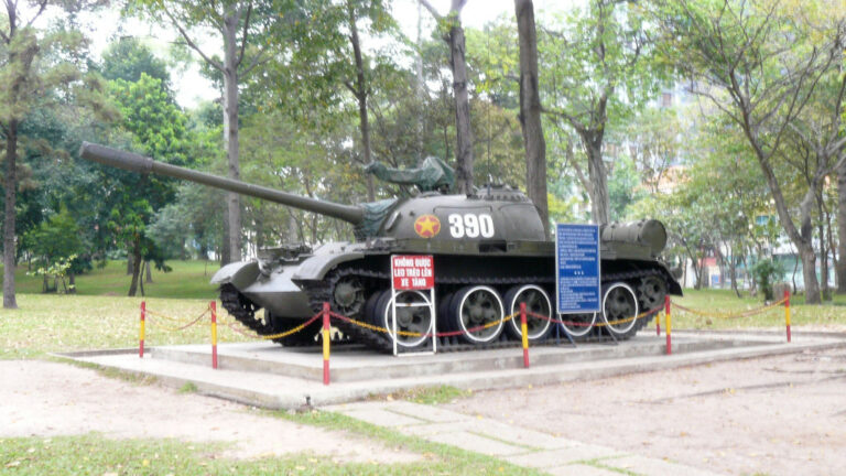 Tank 390 was the first tank to break through Independence Palace gates