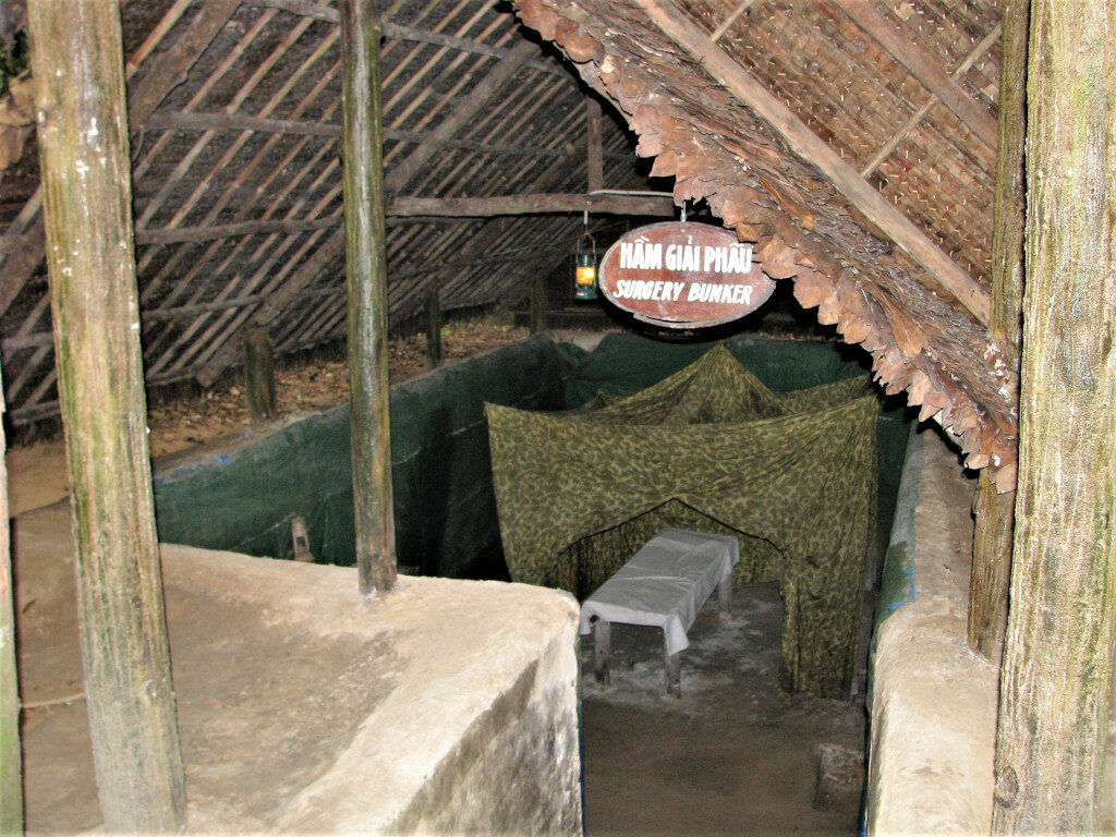 Surgery bunker model at Cu Chi tunnels
