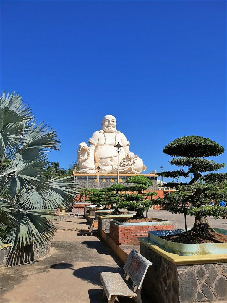 Smiling Buddha at Vinh Tranh pagoda