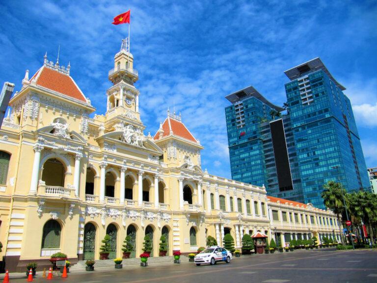 City Hall in Saigon, Vietnam