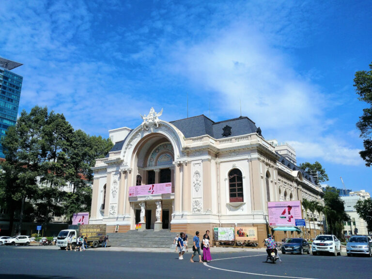 Exterior view of Opera House in Saigon, Vietnam