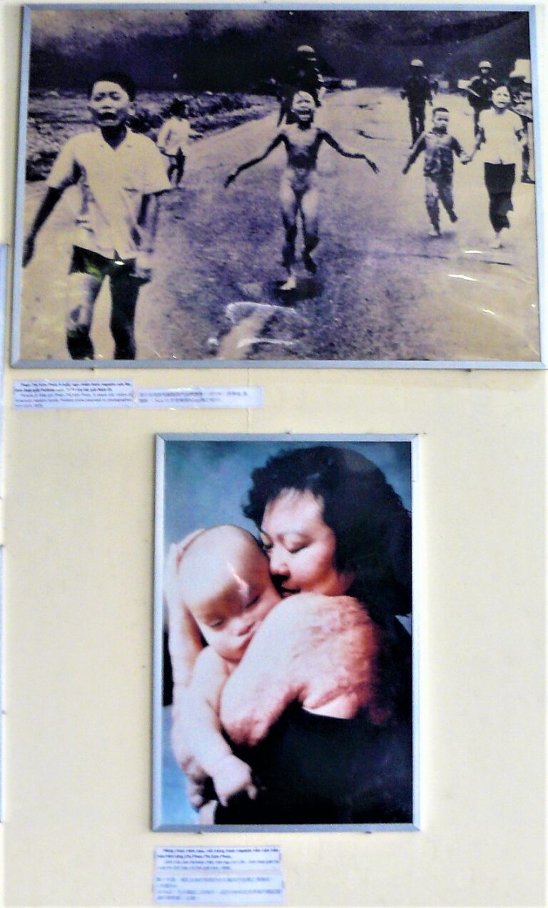 Photographs of Phan Thi Kim Phuc also known as the napalm girl