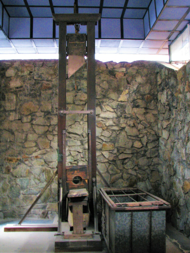 Guillotine brought from France to execute prisoners
