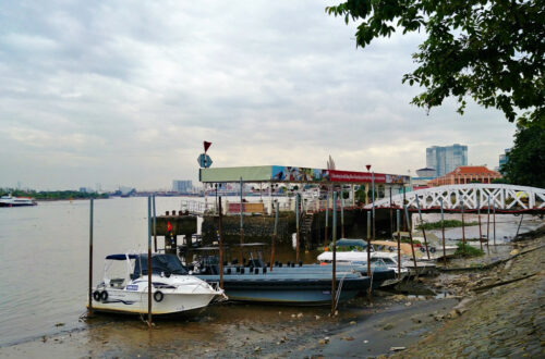 The Saigon riverside