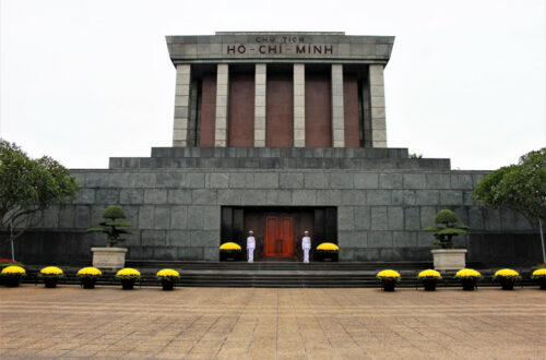Ho Chi Minh Mausoleum with a guard of honour