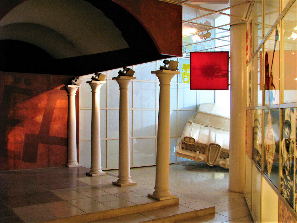 Displays inside Ho Chi Minh museum
