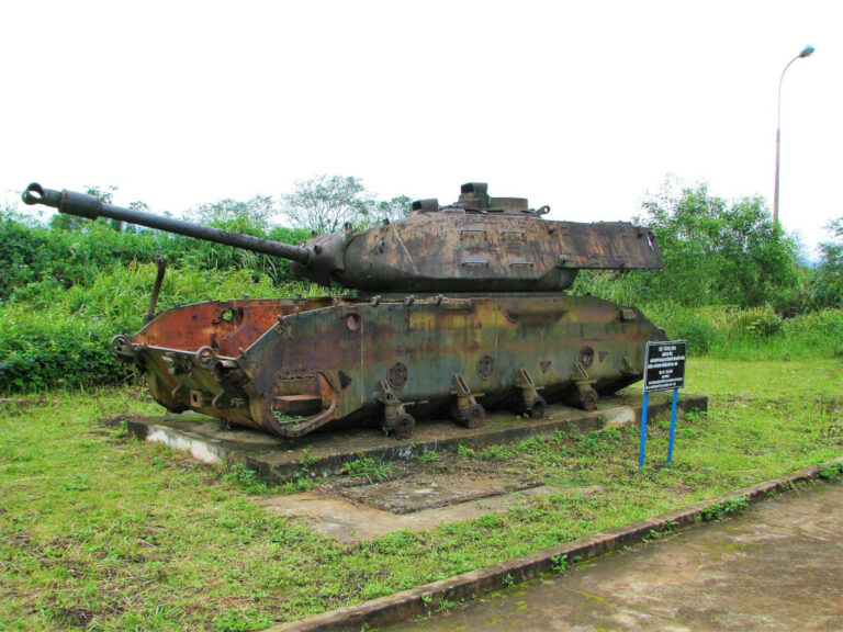 A tank left behind at Khe Sanh Combat Base