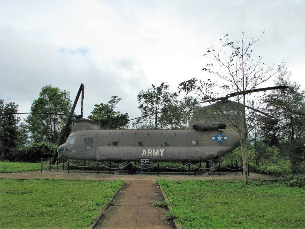 Helicopter left behind at Khe Sanh Combat Base