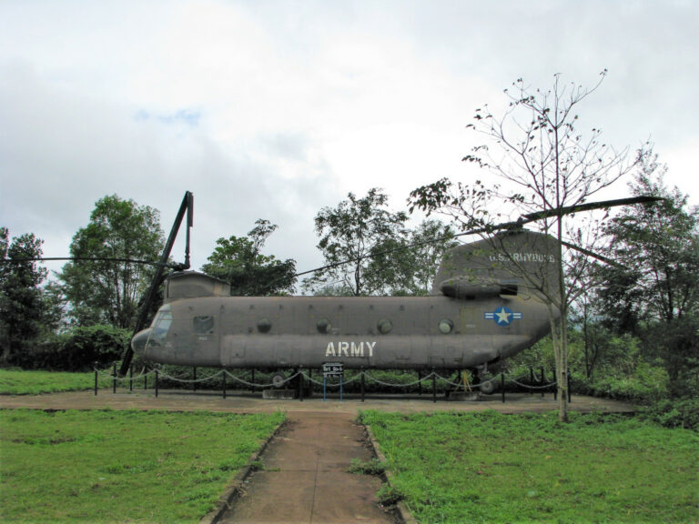 Helicopter left behind at Khe Sanh Combat Base