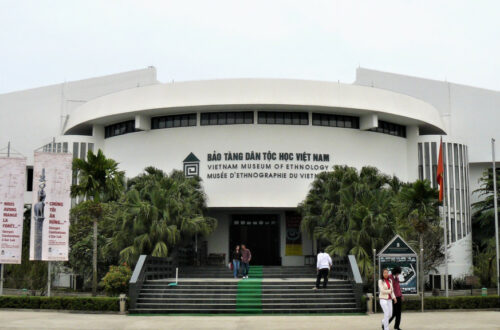 Main entrance to the Museum of Ethnology Hanoi
