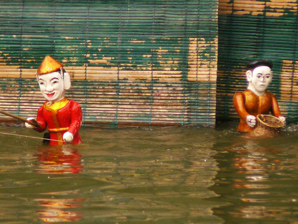 Water puppet show at Museum of Ethnology Hanoi
