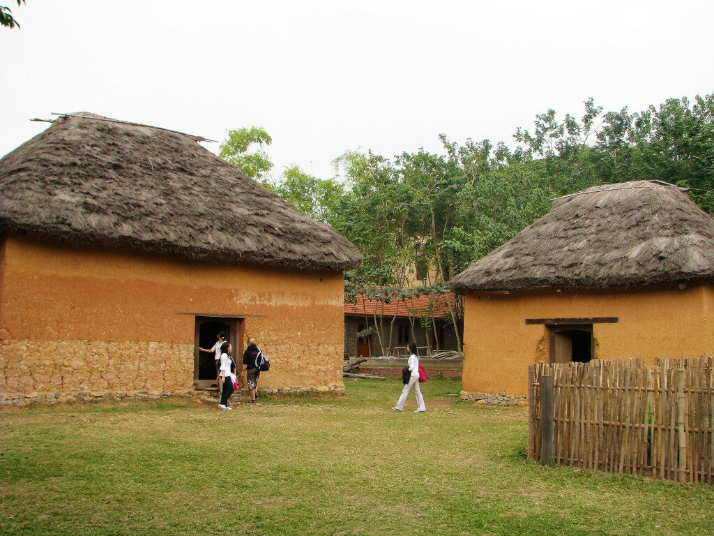 Example of Ha Nhi house at Museum of Ethnology Hanoi
