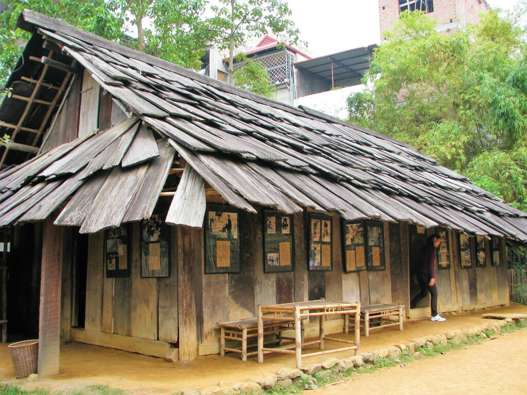 Example of Hmong House at Musem of Ethnology