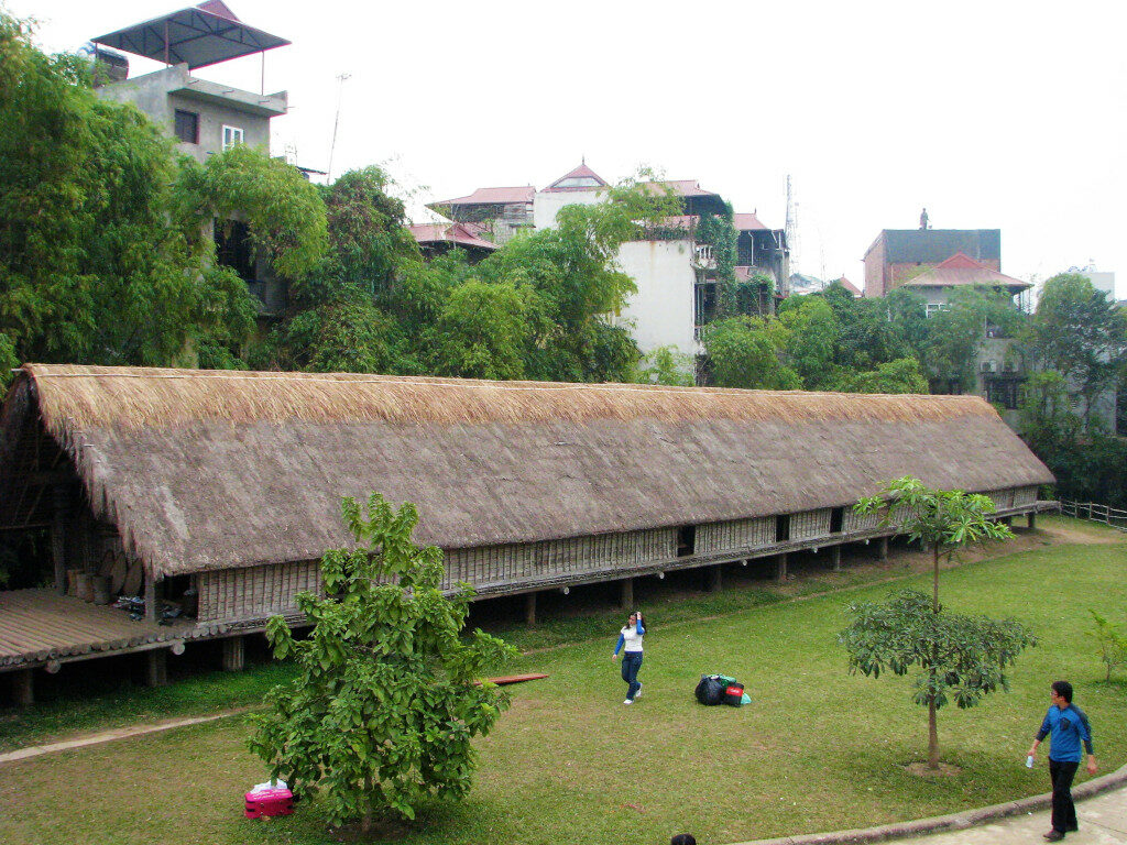 Ede longhouse at Museum of Ethnology Hanoi