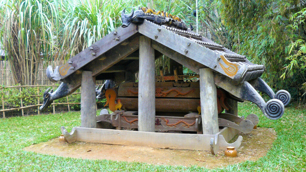 Example of a Cotu tomb at Museum of Ethnology Hanoi