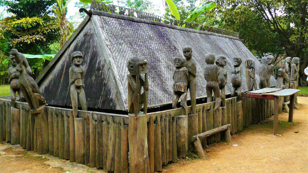 Example of Giarai Tomb at Museum of Ethnology Hanoi