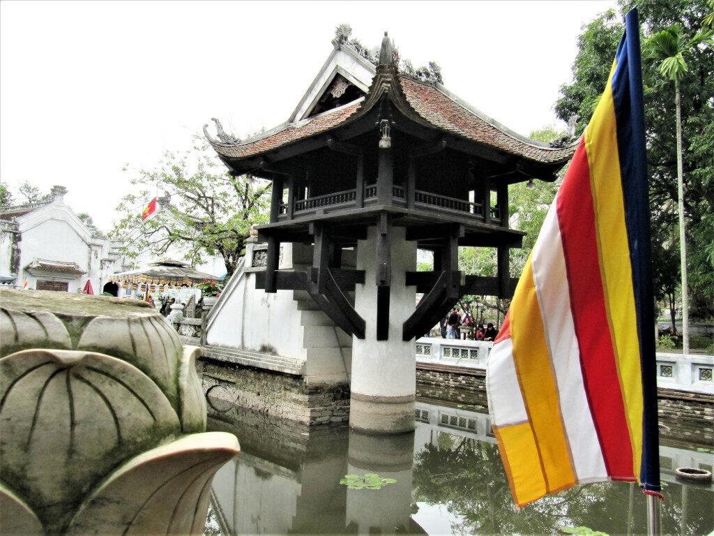 One Pillar Pagoda inside the Ho Chi Minh Mausoleum complex next to the museum