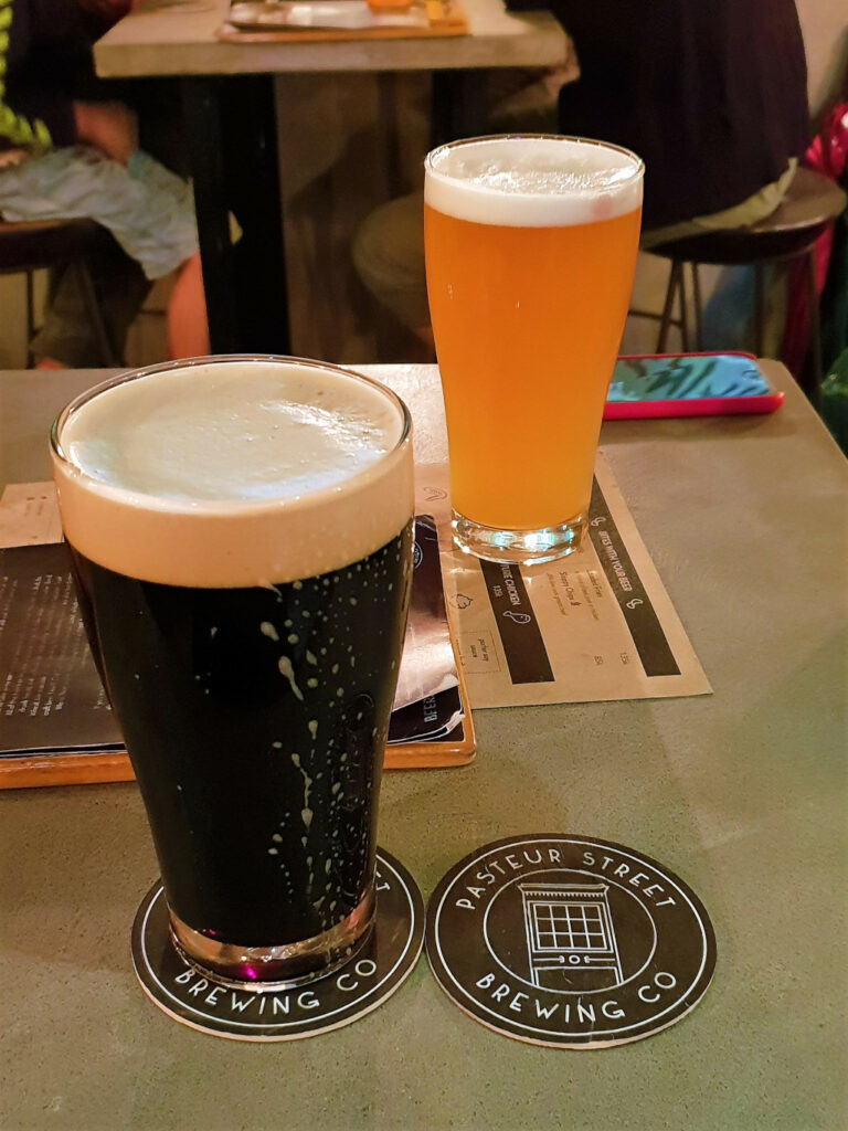 Pint of Coffee Porter and Jasmine IPA at Pasteur Street Brewing Hanoi