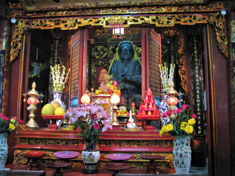 Shrine dedicated to Tran Vu, deity of the North in Taoism at Quan Thanh temple Hanoi