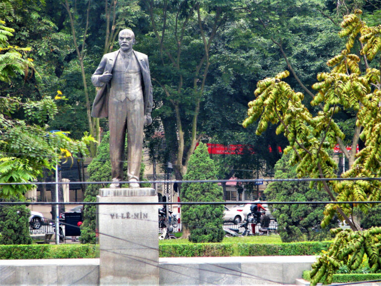 Statue of Lenin at Lenin Park or Thong Nhat Park, opposite the museum