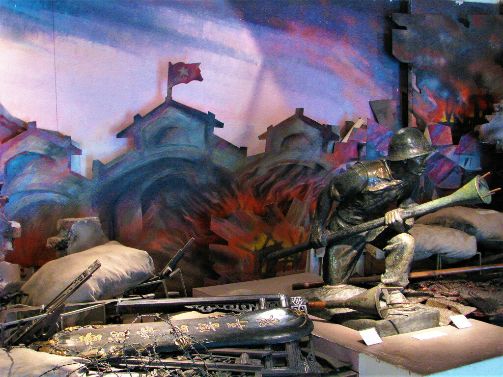 Diorama of the Battle of dien Bien Phu inside the Military Museum Hanoi
