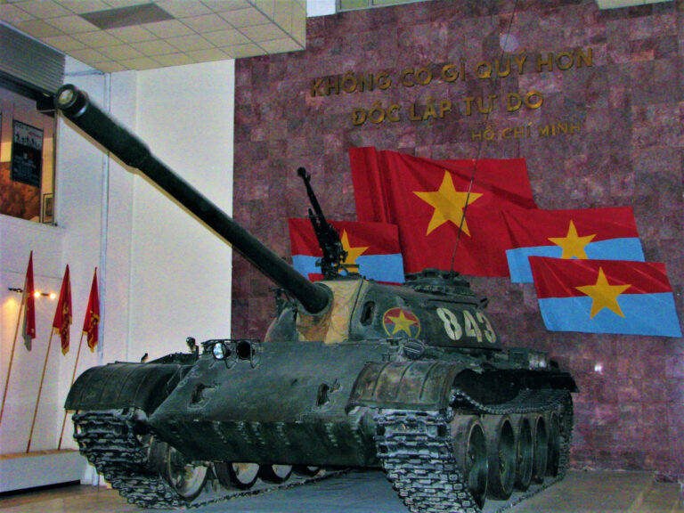 Tank 843, a Soviet-made T54, that was the second tank to get through the palace gates in Saigon