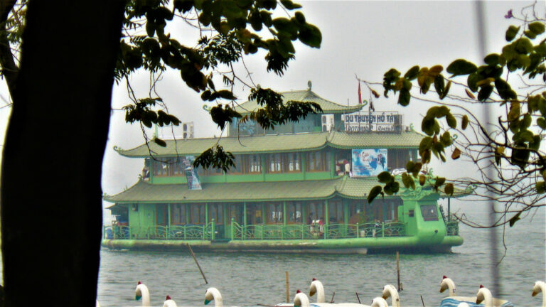 West Lake near Quan Thanh temple Hanoi
