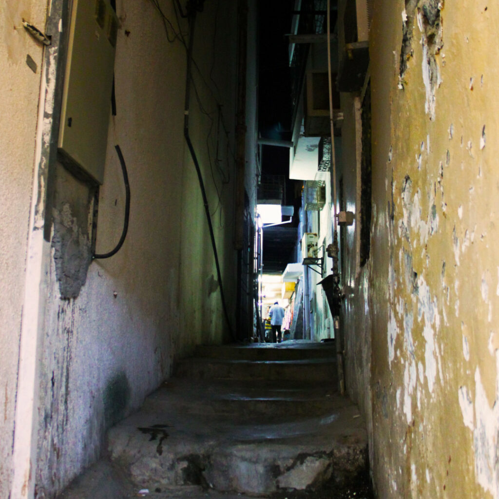 A narrow alley inside Muttrah Souq