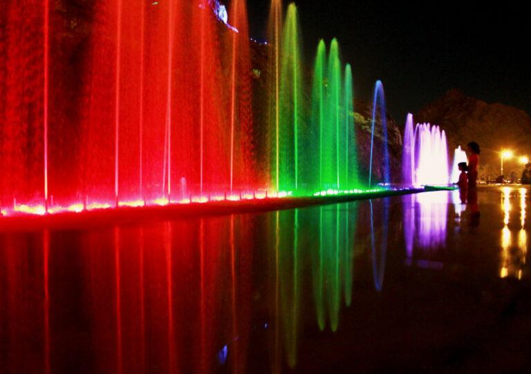 The corniche all lit up