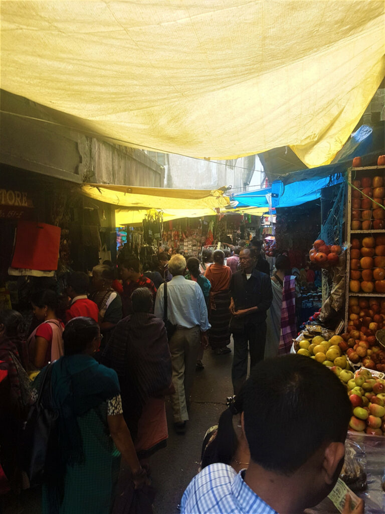 Crowded alley in the market