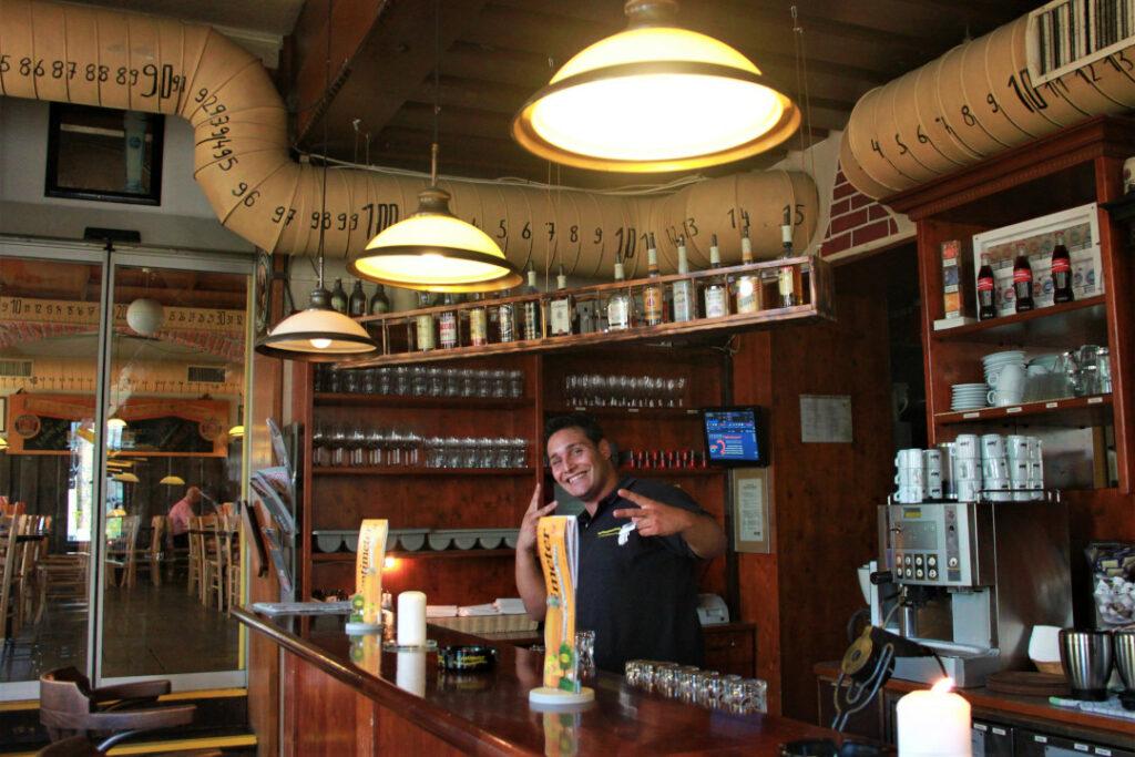 The friendly bartender at Centimetre VII Vienna