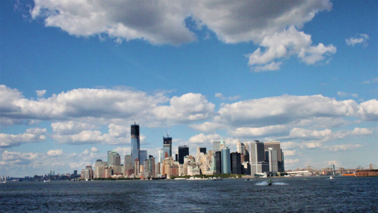 View of Downtown Manhattan from the ferry to Staten Island