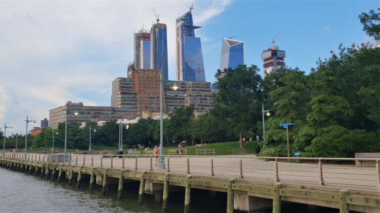 View if Lower Manhattan from Battery Park City