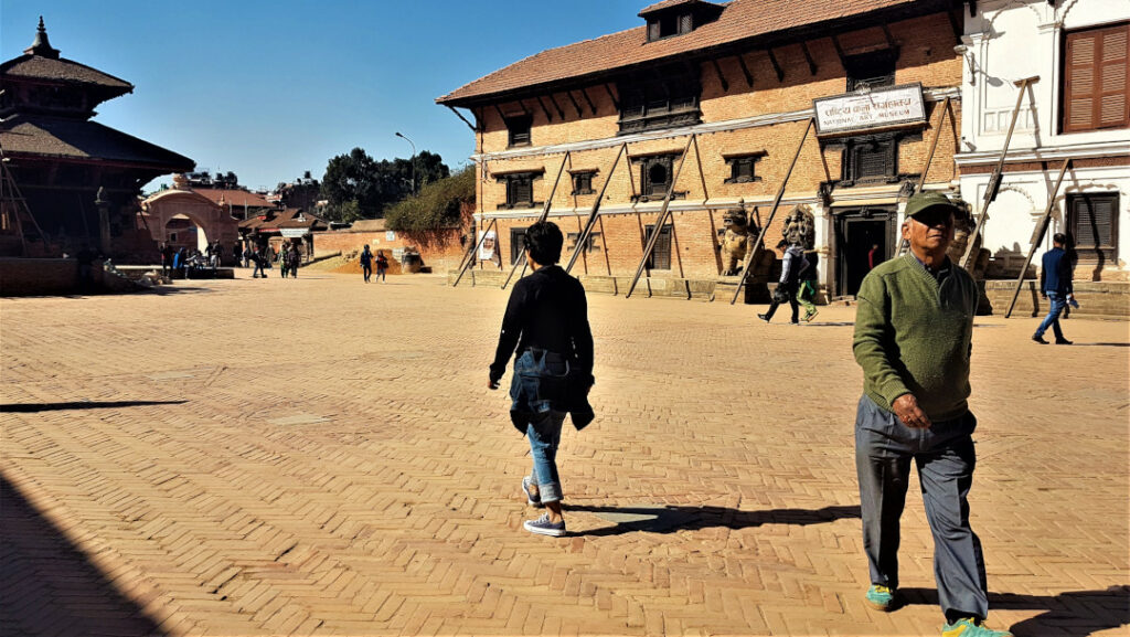 The National Museum in the courtyard at Durbar Square Bhaktapur