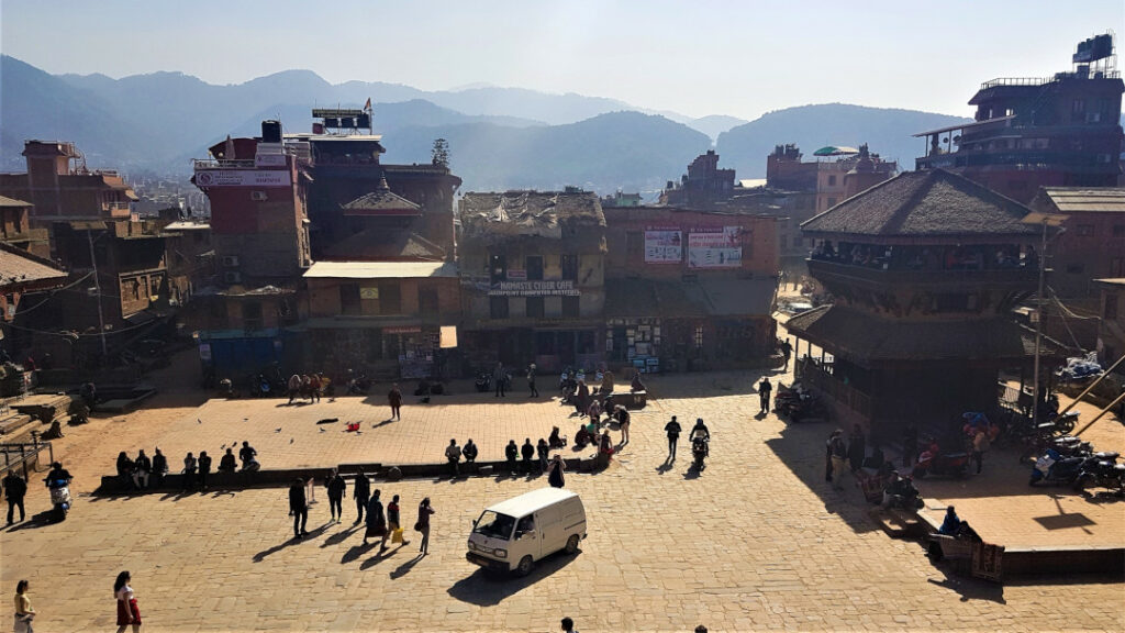 View from the top of Nyatapola temple