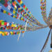 Tibetan prayer flags that adorn Boudhanath Stupa