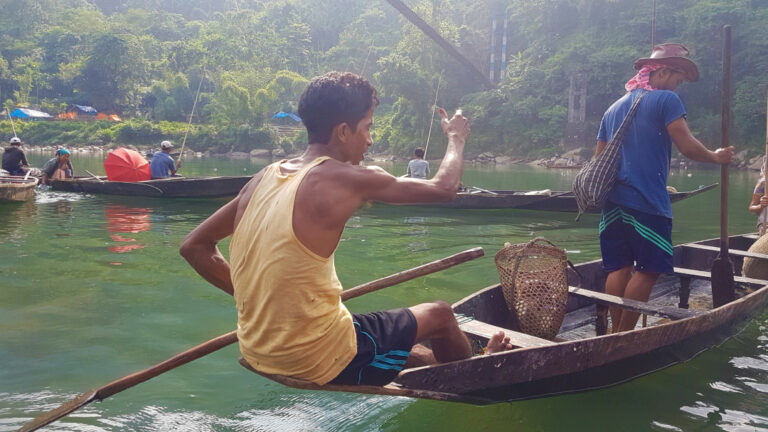 A local fishing in the waters