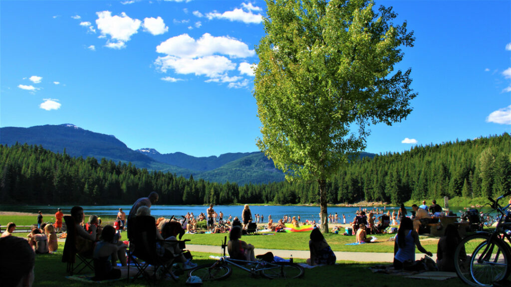 Family come together at Alice Lake